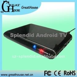 Amlogic Coretex A9 Google Android 2.2/2.3 Internet TV Box/Wi-Fi TV Box