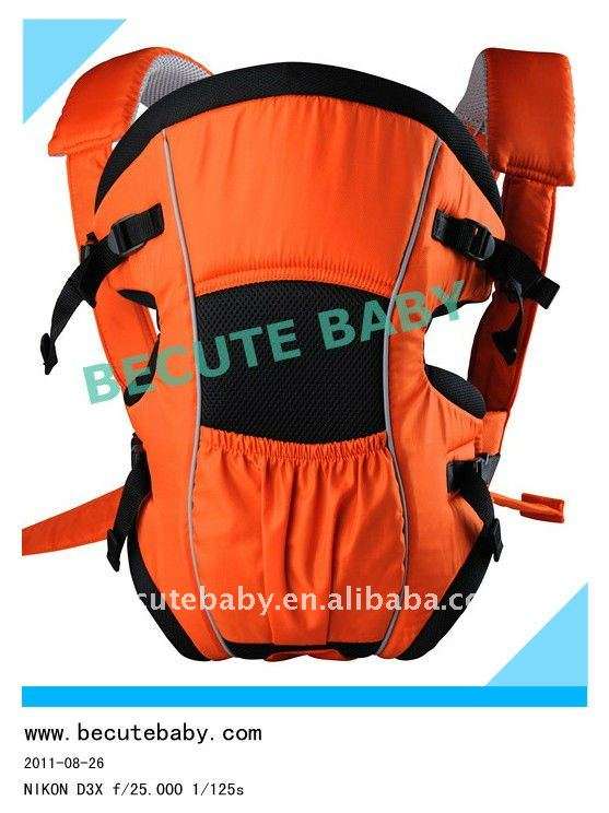 baby carrier orange + black BB001