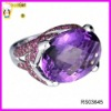 Beautiful purple stone adjustable ring jewellery