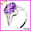 Brilliant amethyst handmade adjusters ring