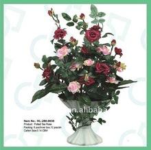 Artificial flower,Big Tea Rose pot,Potted flower,