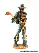Polyresin Skull Dancer Figurine For Halloween Decoration Craft