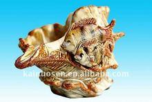 Beautiful ceramic seashell, home decoration