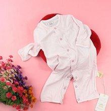 baby soft bamboo fibre long pants long sleeve jumpsuits with circle dot print