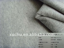 gray 100% cotton french terry knitted fabric
