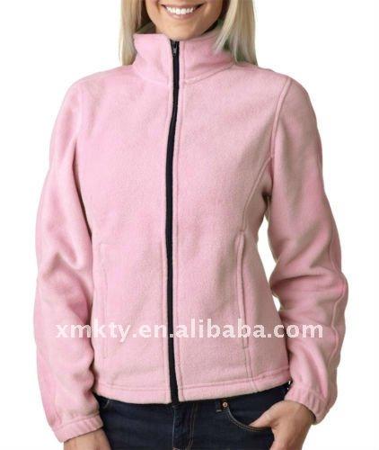 de color rosa señoras chaqueta de forro polar-Chaquetas ...