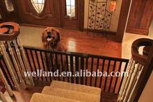Free Standing Tall, Safety Wood Pet Gate/ Folding dog gate(30H,39.25-72W)- -E