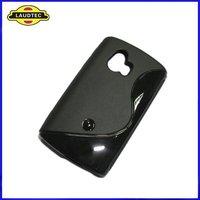 New Arrival Soft Skin TPU S-Line Wave Gel Case for Sony-Ericsson Xperia Mini ST15i