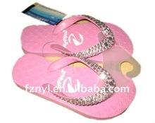 girls rhinestone slippers and flip flops