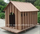 outdoor wood plastic composite doghouse board