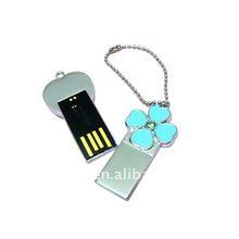 OEM/ODM metal mini usb 2.0,beautiful flower shape metal usb flash