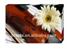 violin and flower digital printing