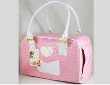 SG012 Fashion high quality PU Pet Carrier Dog Bag