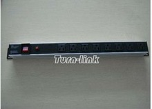 US type 8 way PDU socket with reset button and surge protector