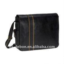 Fashion Portable Durable laptop messenger bag with Large pocket on the back side