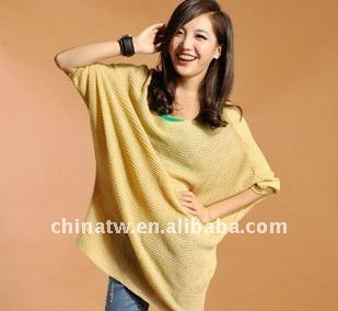 [dh1212]finely round neck lady blouse, cotton piercing ladies knitwear,high quality women clothing