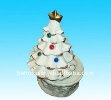 ceramic christmas music box fashion gift with christmas tree