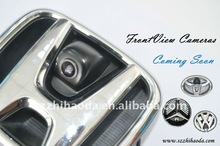 newest waterproof car front view camera(with switch) for honda/toyota/vw/benz