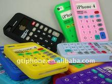 calculator silicon case for iPhone 4