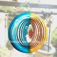 Decorative wind spinner - Sun & Moon