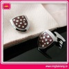 Metal fashionable cuff links with enamel