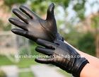 Mens goatskin winter gloves genuine leather
