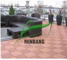 Durable respetuoso del medio ambiente resistente a los arañazos impermeable Patio Exterior piso azulejo