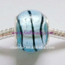 lowest price silver foil glass beads