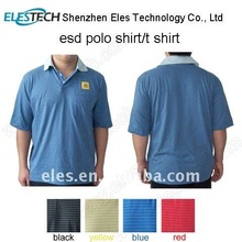 Blue unisex knitted fabric Anti-static Polo shirt other colors available