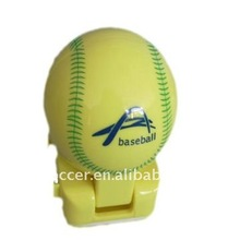 Baseball shape portable speaker for mobile phone