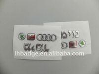 3D soft label for car, car body sticker , window sticker ,