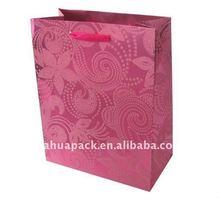 nice flocking paper bag with silk handle