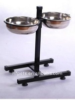 Metal Dog Bowl with rack
