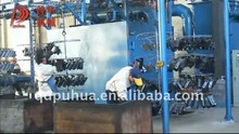 Surface cleaning equipment shot blasting cabinet machine with circulation chain