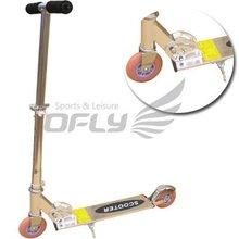 Flashing wheels folding kick scooter DS1040