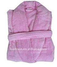 100% cotton velvet bathrobe