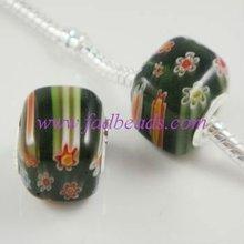 murano millefiori glass beads