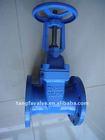 ductile iron resilent rising stem gate valve