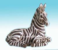 Zebra polyresin horse craft