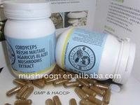 Cordyceps,Reishi,Maitake,Agaricus blazei mushroom compound supplements;high-purity mixed capsules supplements;OEM