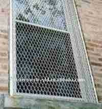galvanized expanded metal window fence
