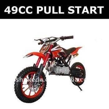 New single cylinder mini moto,pull start gas combustion engine dirt bike