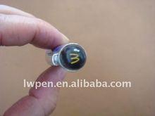 Crystal head metal ballpoint pen small MOQ 300 pcs