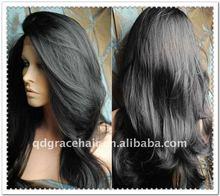 #1 black fashion curly 100% virgin Chinese hair wig