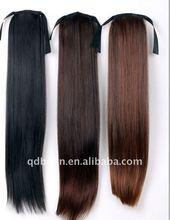 Dark Brown Straight Ponytail Wig Hair piece Extension