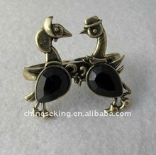 two duck rings, vintage ring jewelry for lover, hot animal jewelry gifts