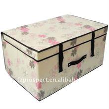 Home furnishing fabric nylon storage bin with lid