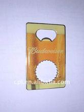 OEM promotional gift printing metal flat Bottle opener