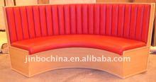single seat hotel sofa in a quarter of circle shape