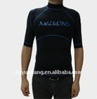 adult black rash guard with short sleeve 2011-9